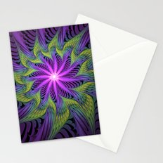 The Light from the Center, Fantasy Fractal Art Stationery Cards