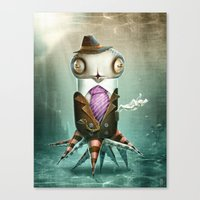 squid Canvas Prints featuring Squid by Helder Oliveira