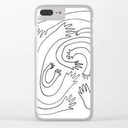 Minimalist Hand Maze Clear iPhone Case
