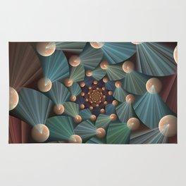 Graphic Design, Modern Fractal Art Pattern Rug