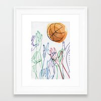 basketball Framed Art Prints featuring Basketball by alrightmike