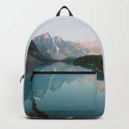 Pastel Sunrise over Moraine Lake Backpack