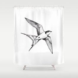 The Swallow Shower Curtain