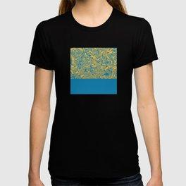 Liquid Swirl - Hawaiian Surf Blue and Citrus Yellow T-shirt