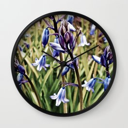 Bluebells, Magical Flowers Of Spells Wall Clock