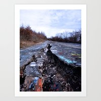 silent hill Art Prints featuring Trial Through Silent Hill by Julie Maxwell