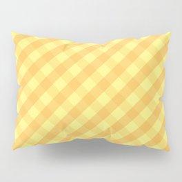 Yellow plaid Pillow Sham