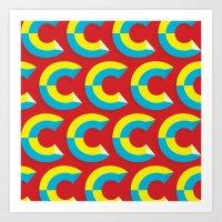 cs lewis Art Prints featuring Many Cs by Matt Hunsberger