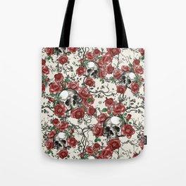 Skulls and Roses or Les Fleurs du Mal Tote Bag