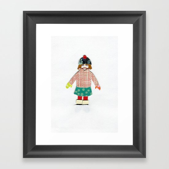 Kicked Outside Framed Art Print
