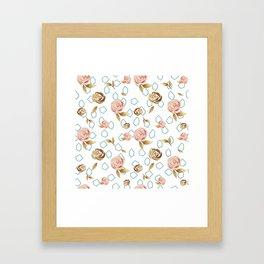 Modern Roses Framed Art Print