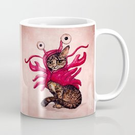 """Ma'ama Lisa"" by Amber Marine ~ Lobster Cat, Watercolor and Ink, (c) 2015 Coffee Mug"