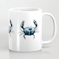 craftberrybush Mugs featuring crab -watercolor by craftberrybush