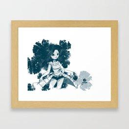 Azul y blanco Framed Art Print