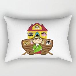 Cute Noahs Ark Rectangular Pillow