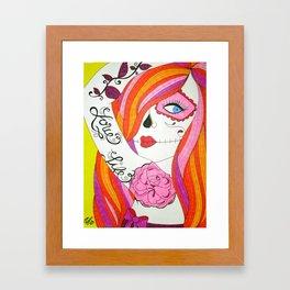 Love Life Girl Framed Art Print