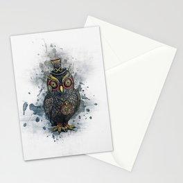 Steampunk Owl Stationery Cards