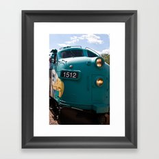Train In Your Face Framed Art Print