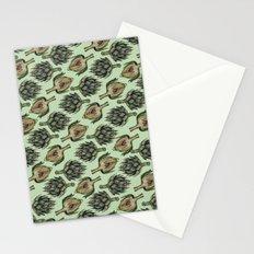 Artichoke Pattern Stationery Cards