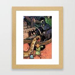 Bravery in Sandstone Framed Art Print