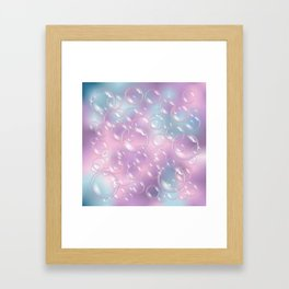 Bubbles ...and more bubbles! Framed Art Print
