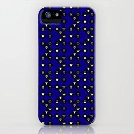 Kingdom Hearts III - Pattern - Blue iPhone Case