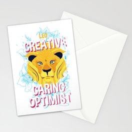 Leo Zodiac Horoscope Lion Spirit Animal Stationery Cards