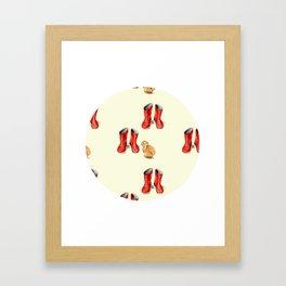 Red Welly & Rabbit  Framed Art Print