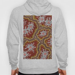 Aboriginal Art Authentic - Mountains Hoody