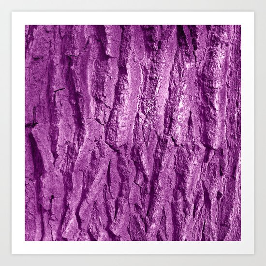 purple tree bark II Art Print