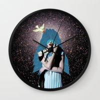 lsd Wall Clocks featuring LSD by Mrs Araneae