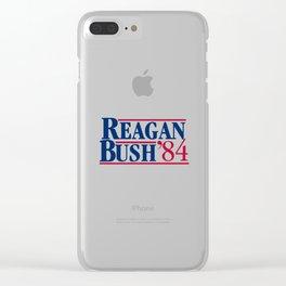 reagan bush 84 Clear iPhone Case