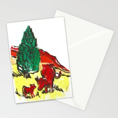Big moo, wee moo (colored version) Stationery Cards