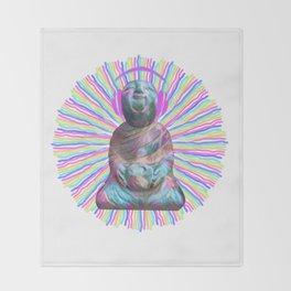 Electric Budha Throw Blanket