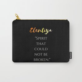 """""""Spirit that could not be broken"""" (black) Carry-All Pouch"""