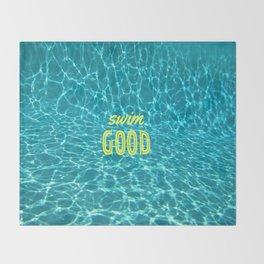 SWIM GOOD Throw Blanket
