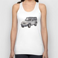 jeep Tank Tops featuring Jeep Wrangler 2012 by Megan Yiu