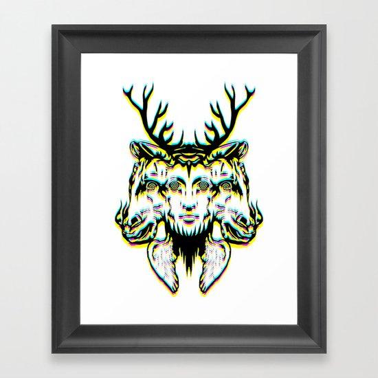 GOD II Psicho Framed Art Print