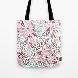 Happy lightful color Mosaic Tote Bag