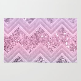 Unicorn Glitter Chevron #1 #pastel #shiny #decor #art #society6 Rug