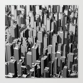Urban Lines B&W Canvas Print