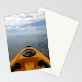 Kayaking Through the Sky Stationery Cards