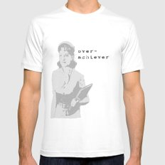 The Over Achiever White MEDIUM Mens Fitted Tee