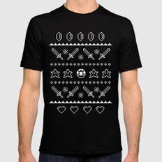 Festive Adventures in Gaming Mens Fitted Tee Black LARGE