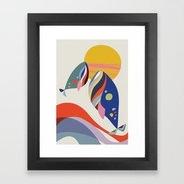 Mother & son Framed Art Print