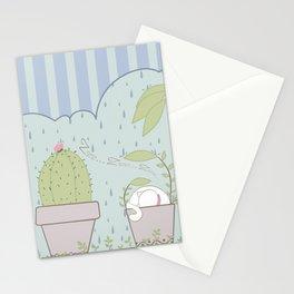 Días de Lluvia en el Jardín Stationery Cards