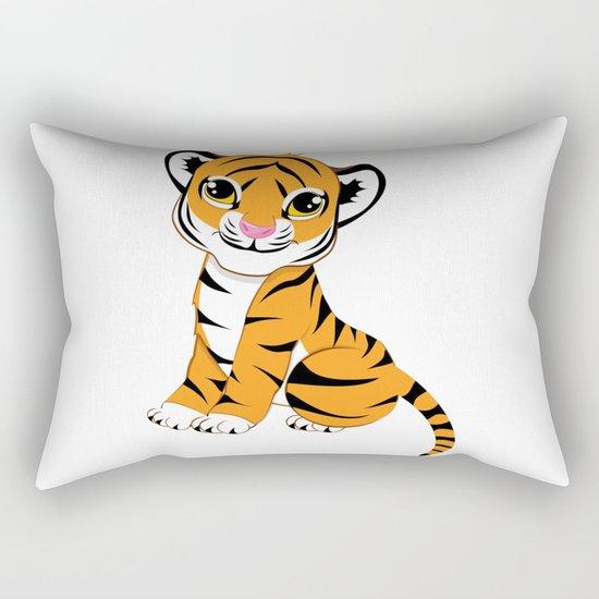 Little Tiger Cub Rectangular Pillow