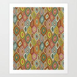 Enchanted Gypsy Leaves Art Print