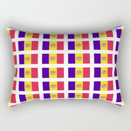 flag of andorra- andorre,andorra,andorran,catalan,pyrenees,pyrenean Rectangular Pillow