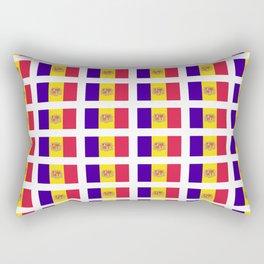 flag of andorra- andorre,andorra,andorran,catalan,pyrenees,pyrenean Rectangular Pillow